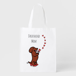Red Smooth Haired Dachshund Mom Bag