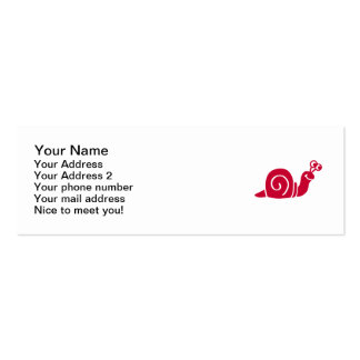 Red snail pack of skinny business cards