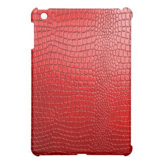 Red Snake Leather Look iPad Mini Cases