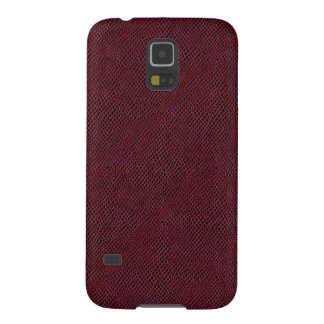 Red Snake Skin Leather Galaxy S5 Cases