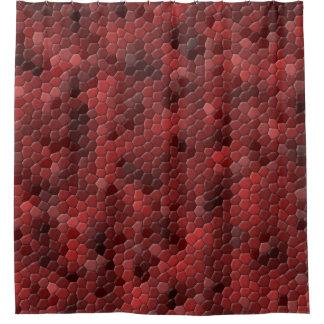 Red Snakeskin Pattern Shower Curtain