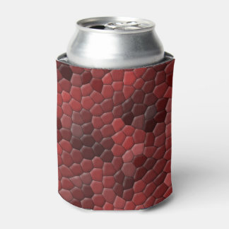 Red Snakeskin Print Can Cooler