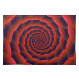 Red Snakeskin Spiral  Placemats