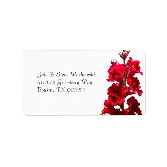 Red Snap Dragon Address Label