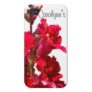 Red Snap Dragon iPhone 4 Case