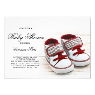 Red Sneakers baby shower invitation