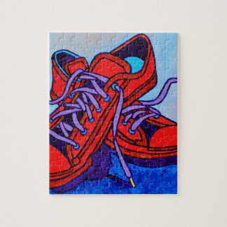 Red Sneakers Two Jigsaw Puzzle