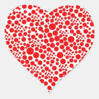 red snow pünktchen scores libe love red talk heart sticker