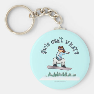 Red Snowboarder Key Ring