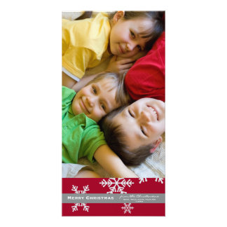 Red Snowflake 4x6 Photo card