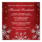 RED SNOWFLAKE  BRIDAL SHOWER CARD