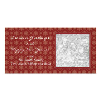 Red Snowflake Holiday Photo Cards
