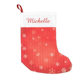 Red Snowflake Small Christmas Stocking