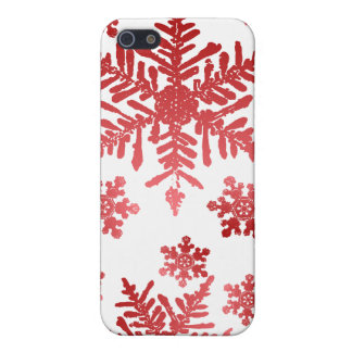 Red Snowflakes Christmas Speck Case Cover For iPhone 5/5S