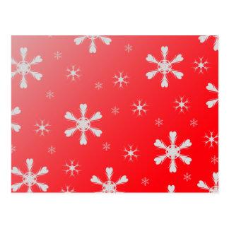 Red Snowflakes Postcard