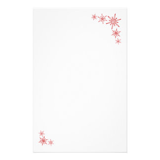 Red Snowflakes Stationery