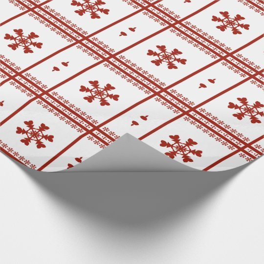 Red Snowflakes Wrapping Paper