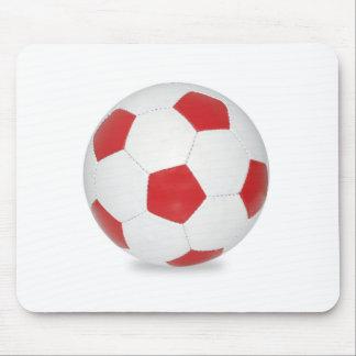 Red Soccer Ball Mousepad