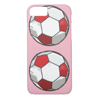 Red Soccer ball sketch iPhone 8/7 Case