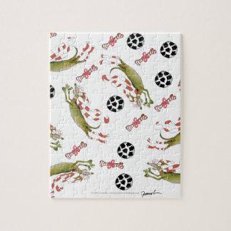red soccer dog, bones balls jigsaw puzzle