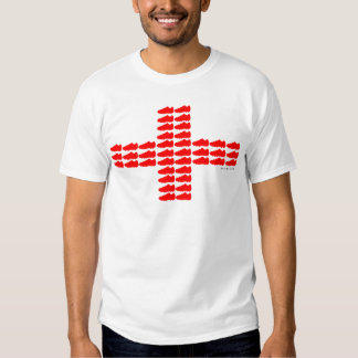 Red Soccer Shoe England Flag T-Shirt 1