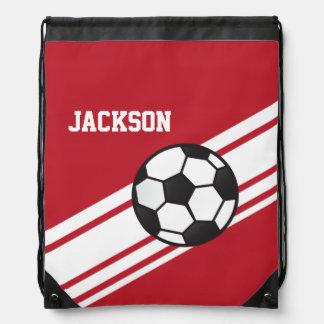 Red Soccer Stripes Backpacks