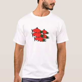 Red Sockeye Salmon Art T-Shirt