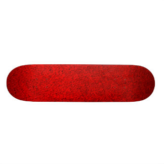 Red Soft Fabric 2 Skate Board Deck