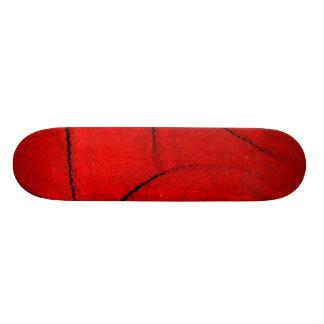 Red Soft Fabric 21.3 Cm Mini Skateboard Deck
