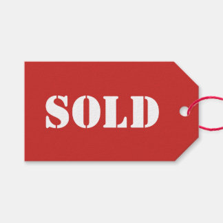 Red SOLD Typography Word Print