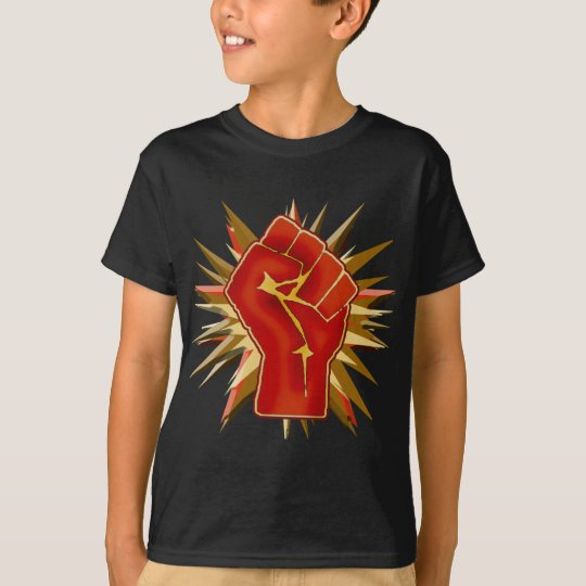 Red Solidarity Fist to Customise on Tshirts