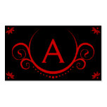 red sophistications monogrammed business card