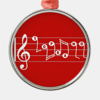 Red Soprano Singer Musical Ornament