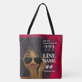 Red Sorority Black Art Tote Bag