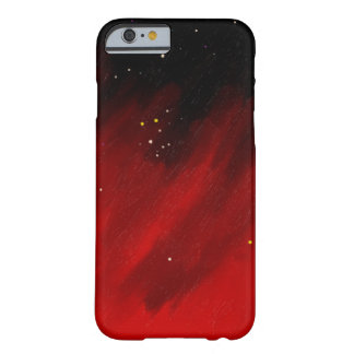 Red space mist. barely there iPhone 6 case