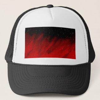 Red space mist. trucker hat