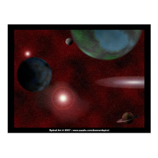 Red Space postcard