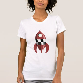 Red Space Rocket T Shirts