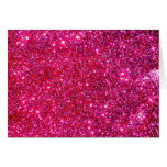Red Sparkle Glittery Holiday Magic Party Card