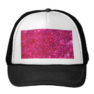 Red Sparkle Glittery Holiday Magic Party Mesh Hats