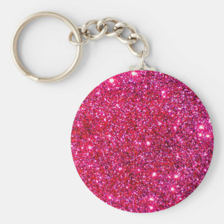 Red Sparkle Glittery Holiday Magic Party Keychains