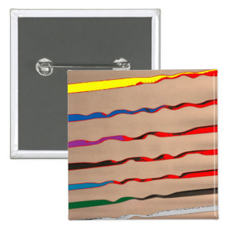 Red Sparkle Streak - HappyHolidays 15 Cm Square Badge