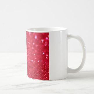 Red sparkling mug design