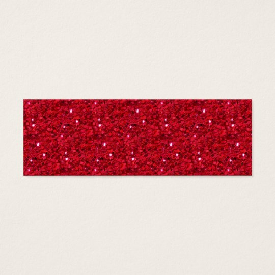 Red Sparkly Calling Card