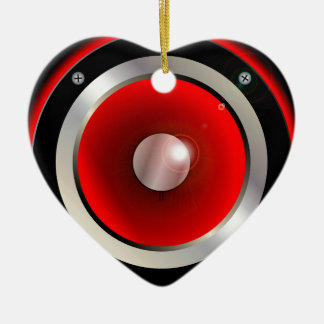 Red Speaker Cone Christmas Ornament