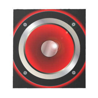 Red Speaker Cone Notepad