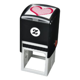 Red Speckled Valentine's Day Heart Self-inking Stamp