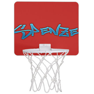 Red Spenze Mini Basketball Hoop