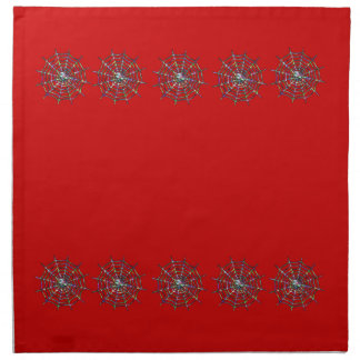 Red Spider and Spider Web Halloween Napkin