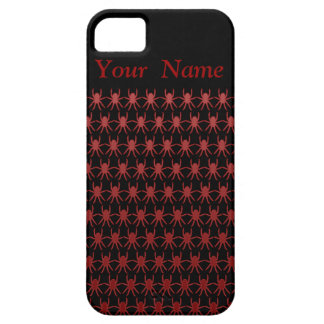Red spiders on black personalised iPhone 5 case